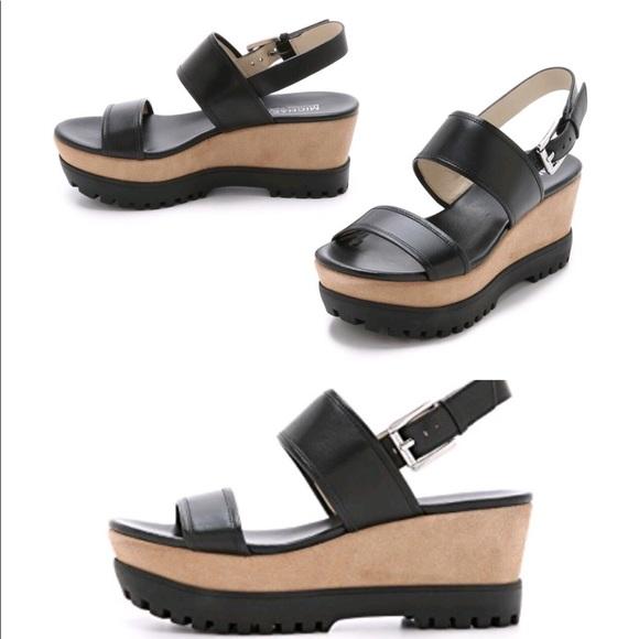 c40e1785e87 Michael Kors Gillian Black & tan Platform Sandals